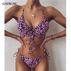 Motif Leopard, Push Up Swimsuit, Bikini Swimsuit, Bikini Beach, Thong Bikini, Sexy Bikini, Two Piece Bikini, Two Piece Swimsuits, Women's Swimwear