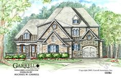 Garrell Associates, Inc.River Mist Manor House Plan # 03284, Front Elevation, Traditional Style House Plans, French Style House Plans, Design by Michael W. Garrell