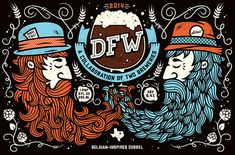 DFW: A Collaboration of Two Breweries beer label design for Rahr Brewery and Lakewood Brewery
