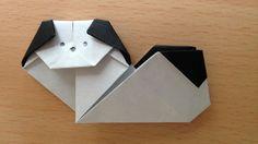 折り紙のチン(犬)簡単な折り方 Origami Japanese Chin dog