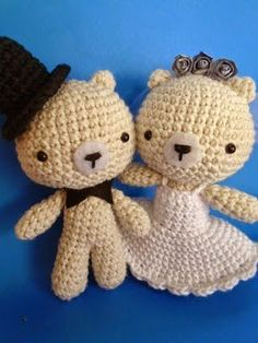 Novios en amigurumi #Wedding