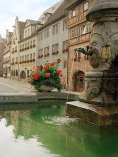 Rothenburg Fountain- Rothenburg(Bavaria), Germany