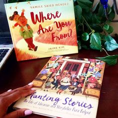 "Happy Latinx Heritage Month!  Here are two #ownvoices books we're celebrating with.  Where Are You From? A story of belonging and being proud of where you're from.  Planting Stories: The Life of Librarian and Storyteller Pura Belpre. This is a picture book bio of Pura Belpre, the first Puerto Rican librarian in New York City. She championed bilingual literature and shared ""story seeds"" from homeland so they could grow and live on forever.  📸 @helpingkidsrise Books Everyone Should Read, Hispanic Heritage Month, English Book, The Life, All The Colors, Childrens Books, Storytelling, Literature, Childhood"