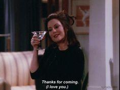 Karen and her drink