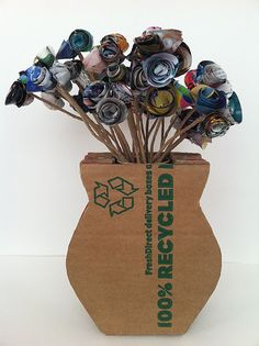 paer flowers paper vase all upcycled receycled repurposed ..love it from   inspiration & realisation