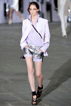 Silver shorts from Diesel's Black/Gold SS12 women's collection.