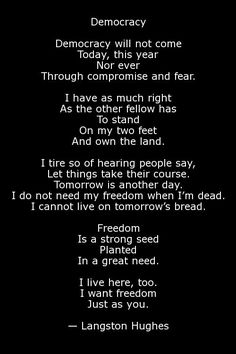 Essay about feet live their own life by langston hughes