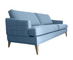 3-zitsbank Maggie, lichtblauw, B 217 cm | Westwing Home & Living
