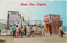 Sky Slide at Ocean View Park Norfolk VA Postcard Amusement Park | eBay