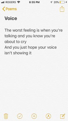 This feeling is the worst