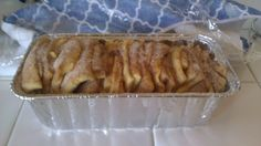 Cinnamon-Pull-apart bread prior to baking. It rose so much that it exploded from the pan...