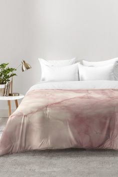 Chelsea Victoria Rose gold marble Comforter | DENY Designs Home Accessories