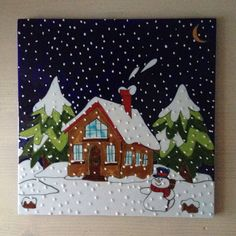 Winter Painting, Painting For Kids, Art Lessons For Kids, Art For Kids, Oil Pastel Art, Crayon Art, Color Pencil Art, Diy Canvas Art, Mini Paintings