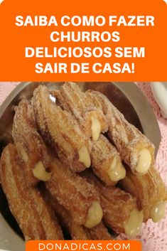 Learn How to Make Delicious Churros Without Leaving Home → The Easiest Way to Make Churros is This. Learn Here! Learn awesome recipes from How to Make Churros at home and call your friends to savor this delicacy made by you. Pan Dulce, Leaving Home, Pastry And Bakery, Baking Pans, Sweet Recipes, Sweet Tooth, Good Food, Food And Drink, Sweets
