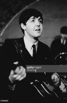 Paul McCartney of The Beatles during a rehearsal at the Cavern Club, Liverpool…