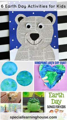 6 Earth Day activities for kids - Special Learning House - Diy-recycling Recycling Activities For Kids, Recycling For Kids, Kids Learning Activities, Sensory Activities, Toddler Activities, Earth Day Projects, Projects For Kids, Crafts For Kids, Toddler Crafts