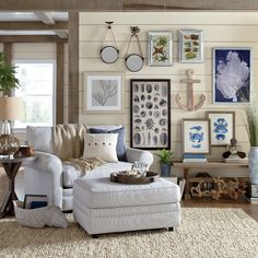 Get inspired by Coastal Living Room Design photo by Birch Lane. Wayfair lets you find the designer products in the photo and get ideas from thousands of other Coastal Living Room Design photos. Coastal Bedrooms, Coastal Living Rooms, My Living Room, Living Room Decor, Living Room Furniture, Furniture Sale, Cottage Style Living Room, Beach Living Room, Barn Living