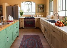 French oak Country style kitchen by Touchwood מטבח כפרי מעץ אלון צרפתי