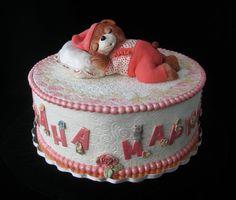 Sleeping teddy bear - by MarinaD @ CakesDecor.com - cake decorating website