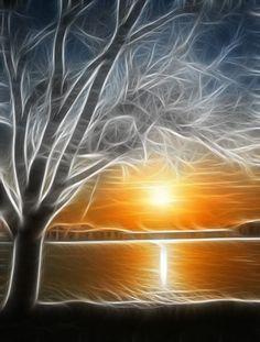 Fractal Sunset / True Art