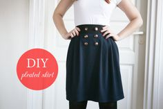 DIY // Simple pleated skirt