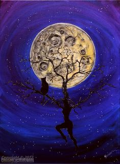 moon painting - Google Search