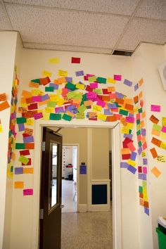 """This is a """"Shout Out Wall"""" where students can shout one another for their success in class or at school."""