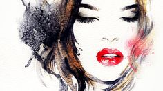Find Woman Face Hand Painted Fashion Illustration stock images in HD and millions of other royalty-free stock photos, illustrations and vectors in the Shutterstock collection. Thousands of new, high-quality pictures added every day. Art And Illustration, Stretched Canvas Prints, Framed Prints, Art Prints, Fashion Painting, Woman Drawing, Female Portrait, Woman Portrait, Watercolor Portraits