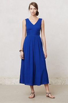 Obvs this is much longer on ME than on the model. Caraiva Maxi Dress #anthropologie