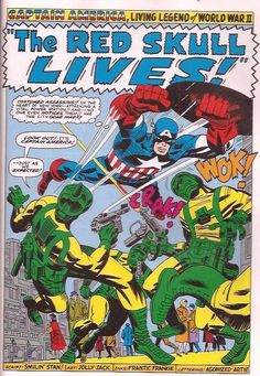 Captain America is always in action Tales of Suspense #79 July 1966 written by Stan Lee, illustrated by Jack Kirby