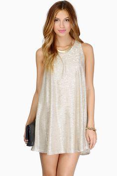 Soft Shimmer Mini Dress