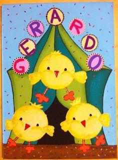 Pollitos en el circo para la habitación de los niños!