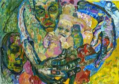 "Saatchi Art Artist Inna Kulagina; Painting, ""Motherhood. Loving you."" #art"