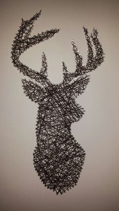 Cool idea, outline any picture or shape and fill it in with a coloured yarn