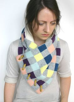 Scarf Plaid Scarf  Check Scarf Plaid Knitted by ArticleApparel, $76.50
