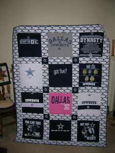 Dallas Cowboy T-Shirt Quilt