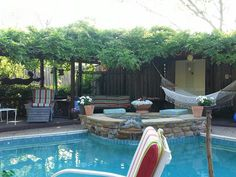 Backyard relaxing