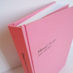 The start of my cooking adventure. :) Hand bound custom recipe book by Bakadesign. Choose your own colour, write your own title.