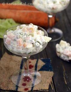 रशियन सलाद वेज रेसिपी , Russian Salad recipe in Hindi Potato Salad Dill, Potato Salad Mustard, Potato Salad Recipe Easy, Vegetable Salad Recipes, Vegetarian Salad Recipes, Soup Recipes, Healthy Recipes, Vegetarian Cooking, Healthy Foods