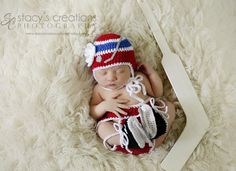 Baby GIRLS HABS HOCKEY Helmet Hat , Diaper Cover and Skates New York Rangers or Montreal Canadians Size Preemie/ Newborn/ 3 or 6 Months
