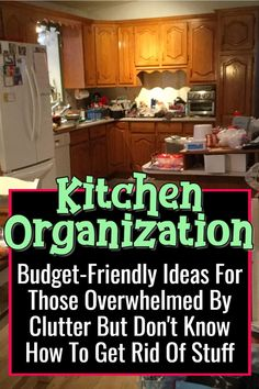 Budget-Friendly Ideas For Those Overwhelmed By Clutter But Don& Know How To. Budget-Friendly Ideas For Those Overwhelmed By Clutter But Don& Know How To Get Rid Of Stuff / Kitchen Organization Kitchen Cupboard Organization, Clutter Organization, Home Organization Hacks, Organizing Ideas, Organized Kitchen, Kitchen Storage, Storage Spaces, Declutter Home, Organizing Your Home