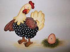 Resultado de imagen para pintura em tecido pano de prato galinha