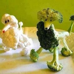 You Mom says you can't have a dog so she creates food art dogs. When she walks out of the room to take a call, the broccoli dog comes to life. What do you do?