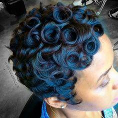 """#shorthair #PinCurls #cut  #summerfun #atlantastylist #atlantahairstylist #hair #love #passion #hairstylist #atl #atlanta #la #nyc #miami #vegas #sc…"""