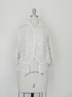 d48fec86940a7 This item above is a Edwardian Lace Cotton Top Blouse . Great condition for  it s age