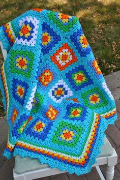 Crochet Baby Afghan  Baby/toddler crochet by OliveJuneBoutique