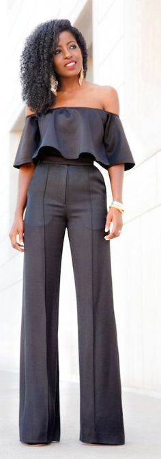 Black Swing Crop Top Streetstyle by Style Pantry