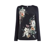 Oasis, FOREST FLORAL PRINT TOP Multi