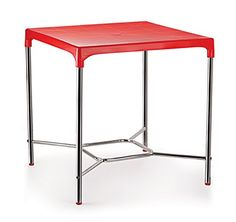 Product Dimensions: Length inches), Width inches), Height inches) Primary Material: Plastic Color: Red, Style: Contemporary Seating Capacity: 4 Assembly Required: The product requires basic assembly and comes with assembly instructions Warranty: 1