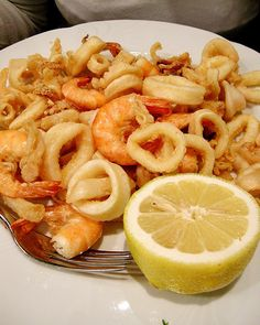 Fritto misto. Although my man doesn't like seafood...he'll learn to lol…